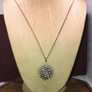 An Taylor brand long chain necklace w/ pendant